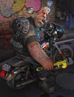 A Comical Rendition of Clay Morrow (Ron Perlman) from 'Sons of Anarchy' by Lee Davies