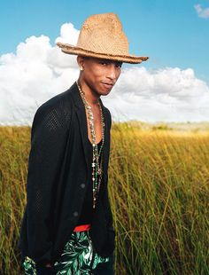 "Portrait de @Pharrell Williams, l'irrésistible rappeur de ""Happy"""