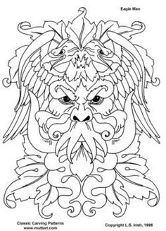 green man coloring pages - photo#26