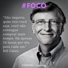 Bill Gates, o gigante da informática e da filantropia, atribui a #foco suas conquistas ao longo da vida. Ele é o homenageado de hoje na galeria #34lentes. Você conhece seus Pontos Fortes? #descubraseuspontosfortes #coaching #cliftonstrengths #strengthsfinder #focus Bill Gates, Coaching, Positive Psychology, Psicologia, Celebrities, Life, Training