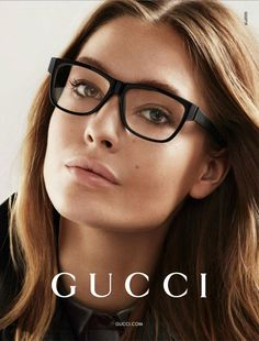 Gucci sunglasses make to be extremely significant part of fashion. Gucci sunglasses have more variety of fashion. You look more beautiful by wear it. Gucci Eyeglasses, Gucci Eyewear, Women's Eyewear, Eyewear Trends, Designer Eyeglasses, Cute Glasses, Girls With Glasses, Glasses Style, Fendi