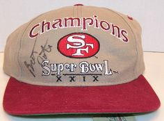 info for 58668 8cdad Details about SUPER BOWL XXIX SAN FRANCISCO 49ERS HAT CAP 29 STEVE YOUNG NFL  LOGO SNAPBACK