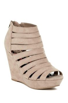 147a7703aaa6e8 Kiick It Wedge Sandal Peep Toe Wedges