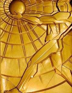 Art Deco Chanin Building Brass Panel, New York City, New York (1929) by Jacques I. Delamarre and René Chambellan