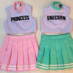 Princess unicorn tennis skirts