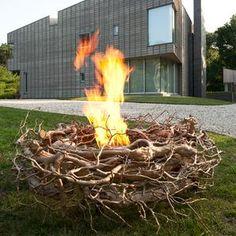 It's a nest, no it's a bronze fire pit! via @modenus