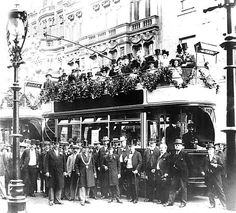 Ceremony in August 1900 for the  first electric tram route from Fawcett Street to Roker in Sunderland.