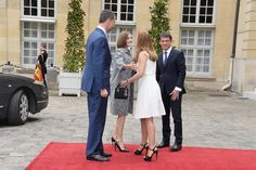 PRINCESS MONARCHY - Lunch with  Prime Minister Manuel Valls at the Hotel Matignon in Paris.