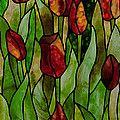 Daffodils Glass Art by David Kennedy