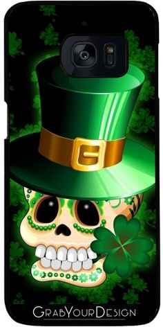 SOLD! #StPatrick #Paddy's #Skull #Cartoon #Samsung #Galaxy S7 #Case - #Design by #BluedarkArt - Many Thanks to the Buyer! :) >> http://www.grabyourdesign.com/product.php?product=11560&m1=1&m2=2&m3=S7E     @grabyourdesign