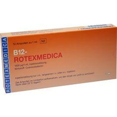 VITAMIN B12 Rotexmedica Injektionslösung:   Packungsinhalt: 10X1 ml Injektionslösung PZN: 03418987 Hersteller: ROTEXMEDICA GmbH…