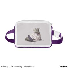 'Warmly Clothed Seal' Nylon Fanny Pack