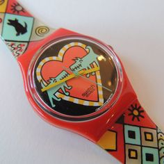 Vintage Swatch Watch Bark Bark by CoolRelics on Etsy Dog Watch, Vintage Swatch Watch, Plastic Resin, Plastic Storage, Peter Pan, Pop Art, Jewelry Box, Watches, Pocket