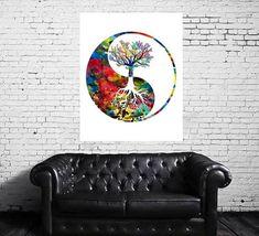 Yin Yang tree watercolor print yin yang tree symbol   Etsy Watercolor Trees, Watercolor Print, Yin Yang, Meditation Art, Gift Wrapping Services, Buddhist Art, All Print, Illustrations Posters, Fine Art Prints