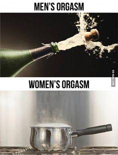 Men's Orgasm vs Woman's Orgasm