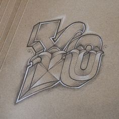 "Rob Draper - ""Yo. Pencil on cardboard"""