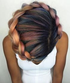 Colorful crown via @shelleygregoryhair - http://community.blackhairinformation.com/hairstyle-gallery/braids-twists/colorful-crown-via-shelleygregoryhair/