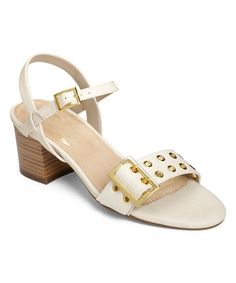aa5da71ff46 Aerosoles Women s Mid Town Quarter Strap Sandal Bone Combo Faux Leather  Size 9 M
