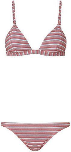 Onia Americana Stripe Triangle Bikini