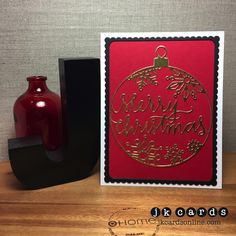 Paper Players 270. Simon Says Stamp Merry Christmas Ornament and Frames Dies, Gold Foil Sheet