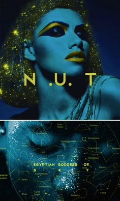 Nut is the egyptian goddess of the sky, she's usually seen as a star-covered nude woman arching over the earth and she is considered one of the oldest deities among the Egyptian pantheon #myth