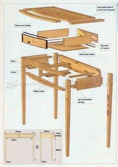 #1871 Side Table Plan - Furniture Plans