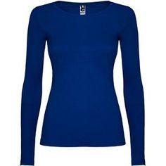 Camiseta chica manga larga T/S Azul electrico