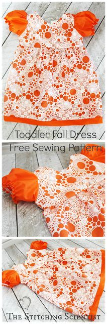 The Stitching Scientist: Puff Sleeve Toddler Dress with Free Sewing Pattern