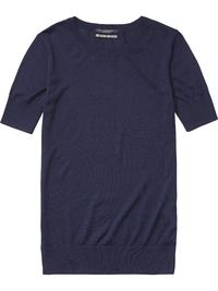 Gebreid T-shirt met korte mouwen | Truien | Dameskleding bij Scotch & Soda
