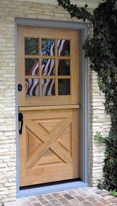 Exterior Dutch Door | DD202 Glass Panel Model | www.VintageDoors.com