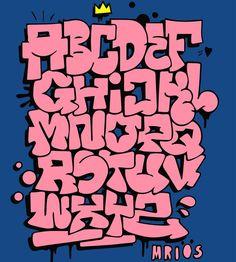 Typography of the magical godparents - - leichte graffiti buchstaben - Graffiti Alphabet, Grafitti Letters, Graffiti Lettering Fonts, Graffiti Doodles, Graffiti Drawing, Doodle Lettering, Creative Lettering, Street Art Graffiti, Lettering Design