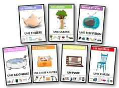 Les familles sont présentées de deux manières différentes : avec l'écriture des autres objets de la famille ou avec les images.jeu des 7 familles à imprimer