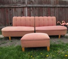 1950s 3-piece sectional sofa-