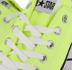 Lime green Converse