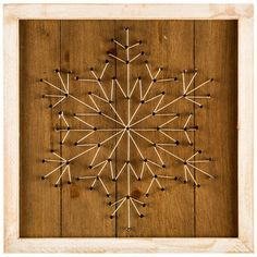 Snowflake String Art Wood Wall Decor - must make!
