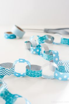 DIY washi tape paper chain for decor