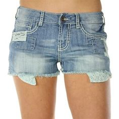 Cowgirl Tuff Women's Patches Cutoff Shorts
