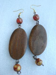 Natur Pur - Ohrringe aus Holz - genau richtig für den Herbst :-)