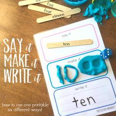 Say It, Make It, Write It Mats - How to Use Them Six Different Ways