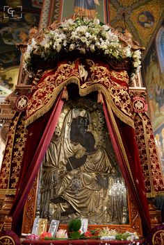 """Miracle working icon of Panagia """"Παναγία Υπαπαντή"""" at the Metropolitan Cathedral…"""