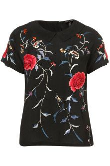 Topshop Embroidered Trellis Tee: Must Have