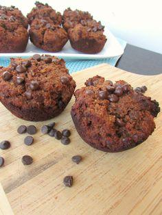 Paleo & Gluten Free Chocolate Brownie Muffins  #VeggieStaples