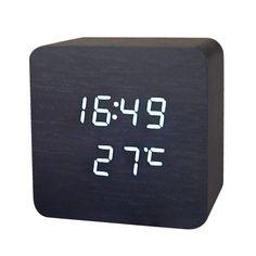 NEW Wooden Digital LED Desk Alarm Clock Thermometer Acoustic Control Sensing Clock desktop clock electronic //Price: $11.90 & FREE Shipping //     Sale Depot http://saledepot.biz/product/new-wooden-digital-led-desk-alarm-clock-thermometer-acoustic-control-sensing-clock-desktop-clock-electronic/    #discount