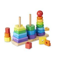 Melissa & Doug | Geometric Stacker Toddler Toy
