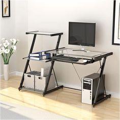 world pride 2 tier computer desk with printer shelf stand home rh pinterest com