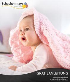 Kuschlige Babydecke aus Schachenmayr Baby Smiles #BravoBaby500 - Gratisanleitung!