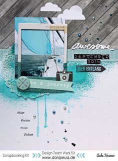 #papercrafting #scrapbook #layout On a journey by Anke Kramer at @studio_calico