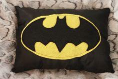 Liz makes a Batman pillow