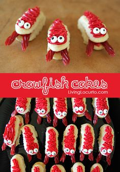 Fun Food Idea for a Crawfish Boil by Amy Locurto. Fun Food Idea for a Crawfish Boil by Amy Locurto. Cupcakes, Cupcake Cakes, Mini Cakes, Lobster Party, Lobster Cake, Lobster Fest, Cute Food, Good Food, Crawfish Party