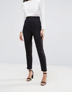 ASOS High Waist Tapered Pants with Elasticated Back - $40